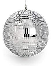 Spiegel discobal | Zilveren glitterbal | Hangende discolamp | For Kids Feesten & Bijeenkomsten | Lichtgewicht spiegeldecoratie | Pukkr (20 cm)