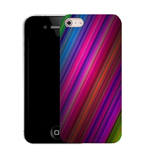 Mobile Case Mate iPhone 5c clip on Silicone Coque couverture case cover Pare-chocs + STYLET - colourful gradiant pattern (SILICON)
