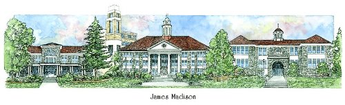 James Madison University - Collegiate Sculptured Ornament by Sculptured Watercolor Ornaments
