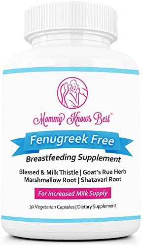 Lactation Supplement for Breastfeeding Support: Fenugreek Free with Goat's Rue, Blessed Thistle, Milk Thistle, Marshmallow and Shatavari Root: Breast Feeding Supplements for Breastmilk Supply Increase