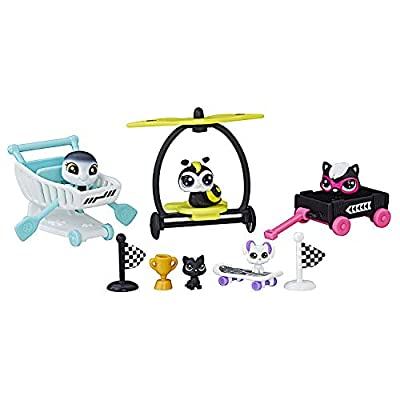Littlest Pet Shop Rowdy Racers - Series 1 Black and White Special Collection: Toys & Games