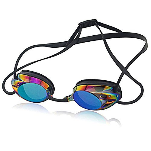 Swimming Goggles Athletics Plating Pro Performance UV Protection Anti-Fog Swim Glasses Adult women men by onenice