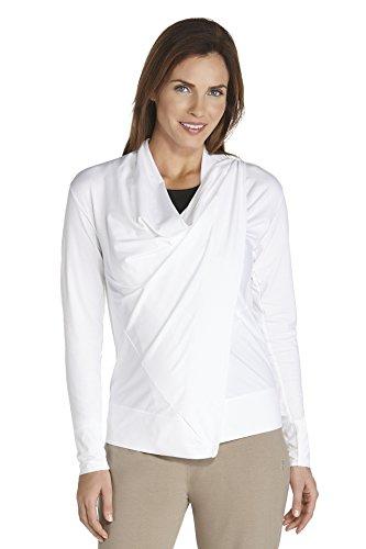 Coolibar–Camiseta de, con protección solar FPS 50+, zno UV Sun Blanco - blanco