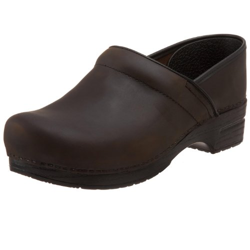 Dansko Men's Wide Professional Clog,Antique Brown Oiled,43 EU (9.5-10 Wide US)
