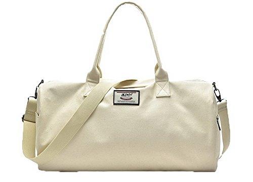 Bolsas Hombro Style Mano GMXBB181174 de de Beige Lona Bolsas Duffel Viajar AgooLar Mujeres 8cq1WwT1f