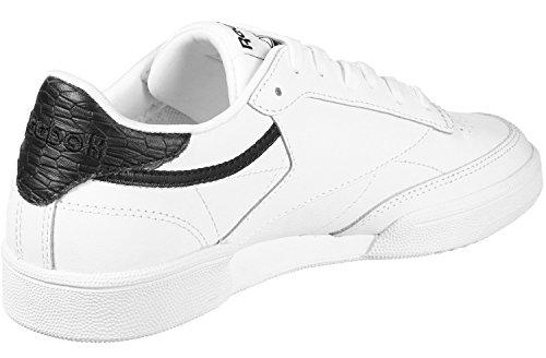 Reebok Club C 85 Emboss, Zapatillas de Tenis Para Mujer Blanco (White/Black 000)