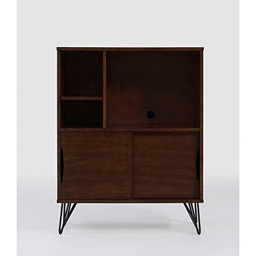 ModHaus Living Mid Century Modern Wooden Bookshelf Media Console Cabinet with Hairpin Legs - Includes Pen by ModHaus Living (Image #5)