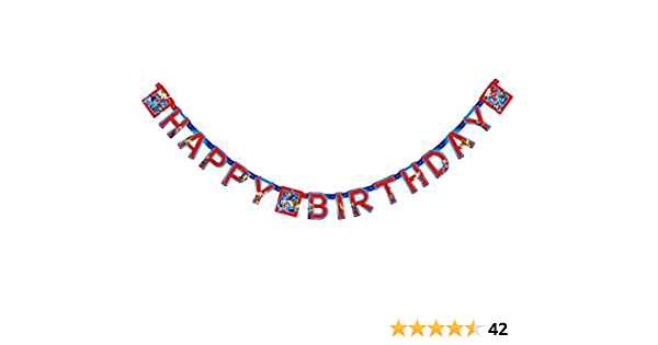 American Greetings Detective Comics Super Hero Filles Happy Birthday Party Banner
