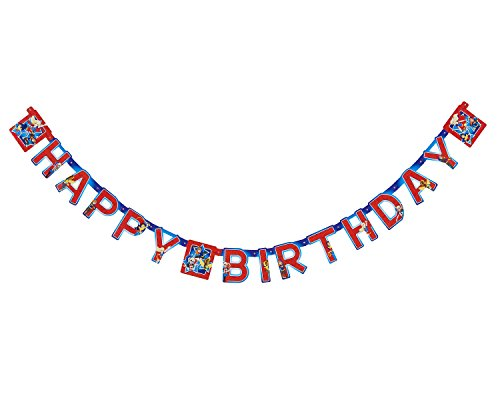 American Greetings DC Super Hero Girls Birthday Party Banner (Wonder Woman Party Decorations)