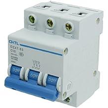 DealMux 10 Amp Rated Current 3 Pole Miniature Circuit Breaker, AC 240V, 415V