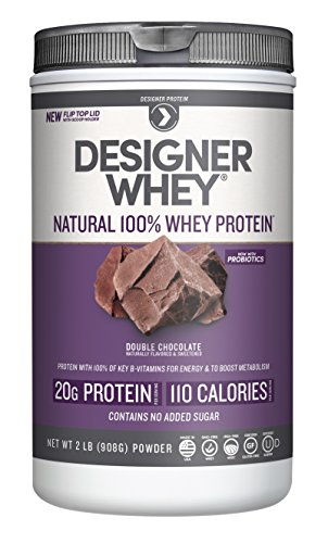 Designer Whey Protein Powder, Double Chocolate, 2 Pound, Non GMO ()