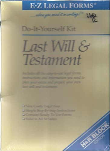 Last will testament do it yourself kit e z legal forms hr last will testament do it yourself kit e z legal forms hr block edition e z legal forms amazon books solutioingenieria