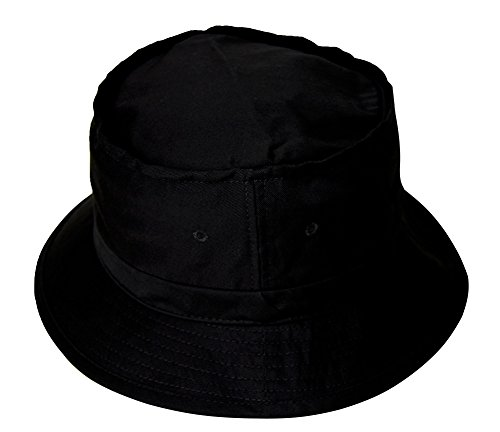 Bucket Fishing Hat - Black (Retro Bucket Hat)