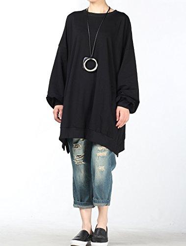 Mordenmiss Women's Loose Sweatshirt Spring/Fall Simple Shirt Tops