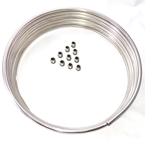 Stainless Fuel Line Tube Coil Roll 5/16