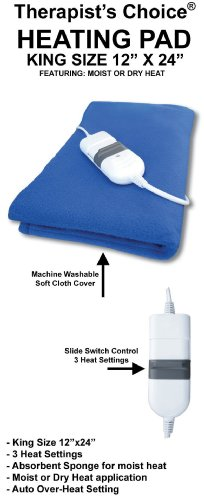 Therapist's Choice® King Size Moist/Dry Heating Pad, 12