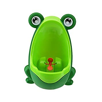 b453dceeafe5c Amazon.com   Foryee Cute Frog Potty Training Urinal for Boys with Funny  Aiming Target - Blackish Green Color  Dark Green Model  Baby
