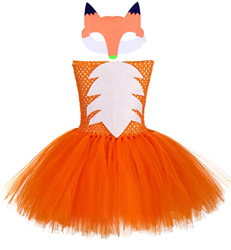 Tutu Dreams Toddler Fox Dress Girls Halloween Animal Costumes Thanksgiving Day(Fox, Medium)]()