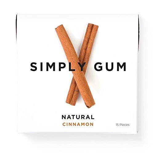 - Simply Gum | Chewing Gum | Cinnamon| Pack of Six (90 Pieces Total) | Vegan + non GMO