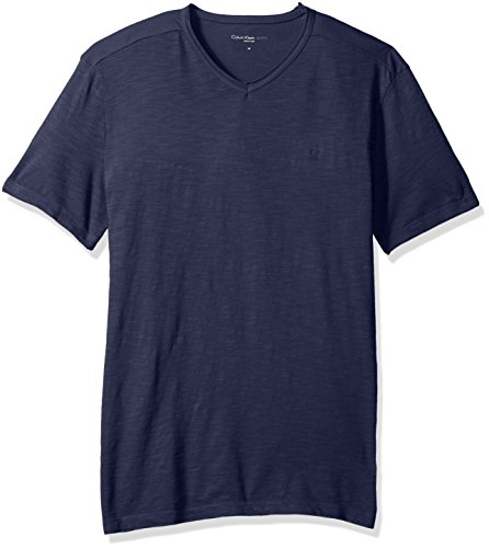 calvin-klein-jeans-mens-short-sleeve-mixed-media-v-neck-t-shirt-classic-navy-x-large