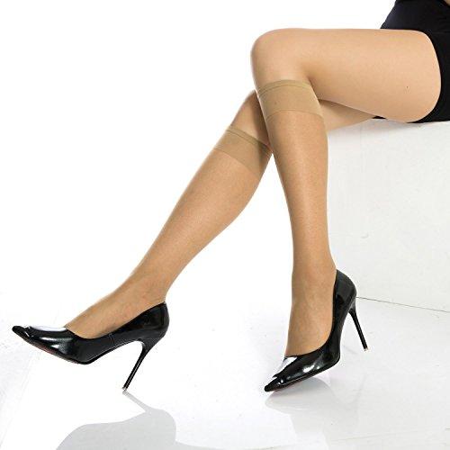 Manzi 12Packs Women's Stretch Ultra Knee-Highs Silk ...