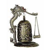 Casa asiática Zen Art Brass Feng Shui Desktop Dragon Windbell