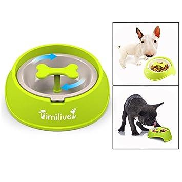 Saludable diseño Bol para Perro de Mascota OFKPO Perro alimentador alimentación Lenta Pet Bowl Reducir significativamente la Velocidad de Comer Perro