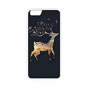 iPhone 6 Case, [Deer ] iPhone 6 (4.7) Case Custom Durable Case Cover for iPhone6 TPU case(Laser Technology)