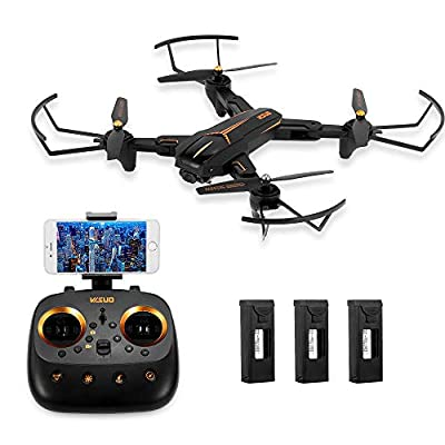 Goolsky VISUO XS812 Drone 2.4G GPS 5G WiFi 1080P Wide Angle Camera WiFi FPV Altitude Hold Foldable RC Quadcopter w/ 3 Batteries by Goolsky