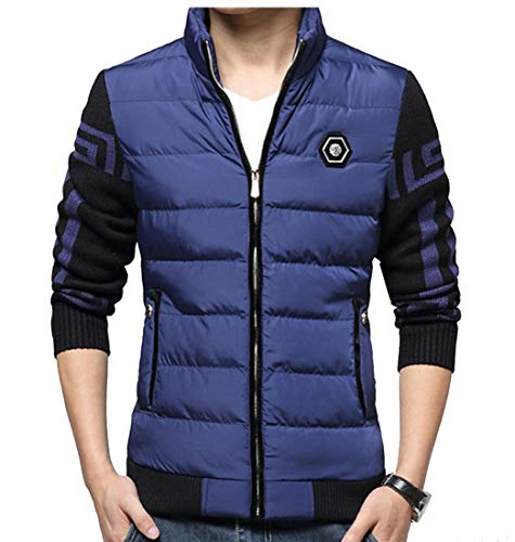 Outwear Coats Light Ultra Cotton Jacket EKU Blue Winter Down Men's q14Px8w0