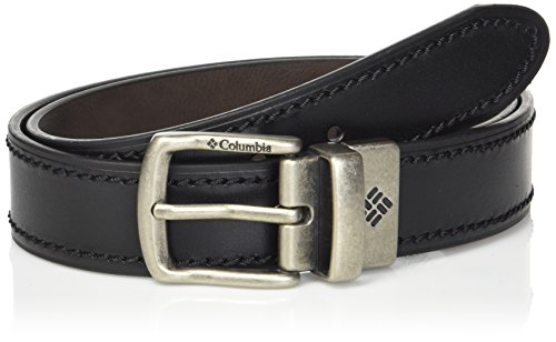 Leather Columbia (Columbia Men's Leather Reversible Casual Belt, black/brown, Large)