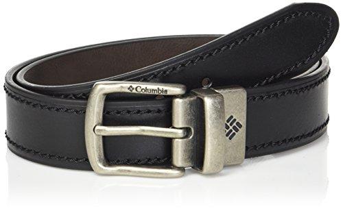 Columbia Men's Leather Reversible Casual Belt, black/brown, Xlarge (Leather Reversible Casual Belt)
