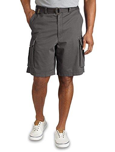 Broken Twill - True Nation DXL Big and Tall Broken-In Twill Cargo Shorts (58, Washed Navy)