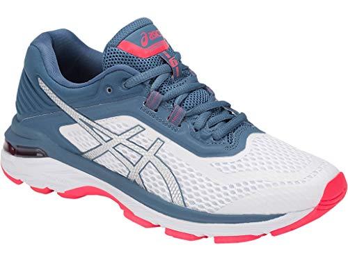 (ASICS Women's GT-2000 6 Running Shoe, White/Azure, 11.5 M US)
