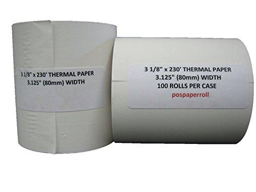 100 Rolls- 3 1/8'' X 230' BPA Free - Thermal Paper by PosPaperRoll