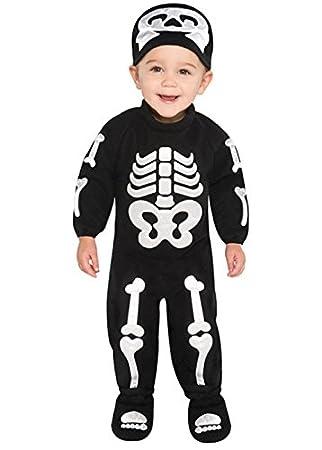 Tamaño del bebé traje de esqueleto de Halloween: Amazon.es ...