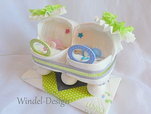 Windeltorte Für Mädchen Jungen Rosa Zwillinge Windelwagen
