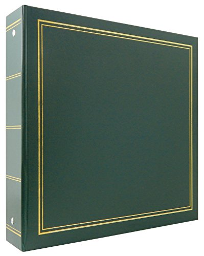 MBI 4x6 Inch Library Collection 400 Pocket Photo Album, Green (804003)