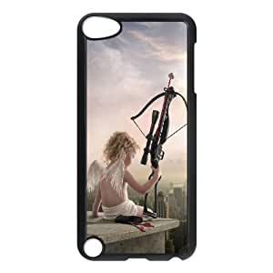 iPod Touch 5 Case Black Rooftop Cupid Angel Love Bow Arrow OJ623571