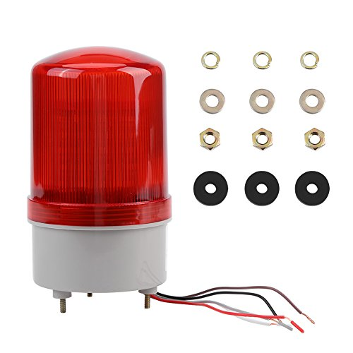 1pc Red LED Emergency Warning Lighting Bulb Rotating Beacon Lamp AC220V