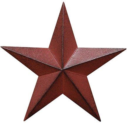 Heart of America Burgundy Barn Star - 5-1/2