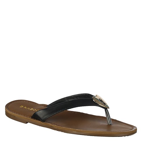 Sandalo Di Bambù Kendal-12 Da Donna Di Colore Nero