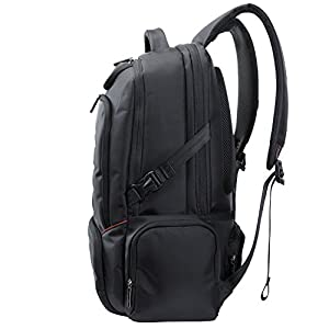 Lifewit Men Large Laptop Backpack Water Resistant Travel School Business College Computer Bag Carry-on Fits Up to 18.4 Inch, Black