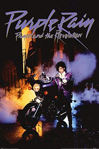 Pyramid International Prince Purple Rain Motorcycle Album Music Poster 36x24 inch