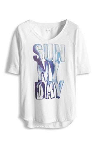 Esprit 035es1k005 Jys 30 3/4 T - Camiseta Mujer Blanco