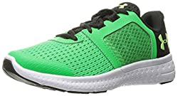 Under Armour Boys' Pre School Micro G Fuel Rn Sneaker, Lime Twist (300)white, 1