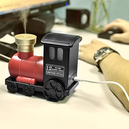 KELER Cute Small Train Humidifier Mini USB Humidifier with Aroma (Red)