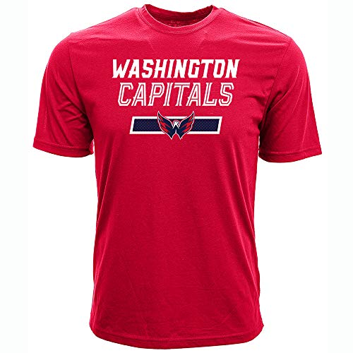 Levelwear NHL Washington Capitals T. J. Oshie Mens Undisputed Name & Number Richmond Tee, Solid Red, Small