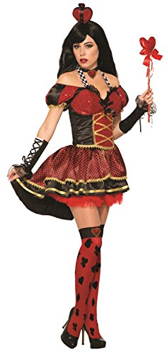 Forum Women's Queen Hearts Deluxe Costume, Red/Black,