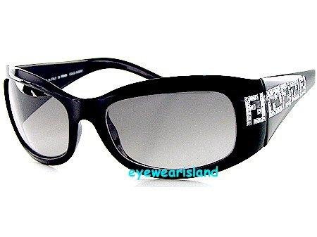 33769de001 Limited Edition New Fendi Fs436R Fs 436R 001 Soft Black Lens Black Frame  Swarovski Crystal Sunglasses  Amazon.co.uk  Clothing